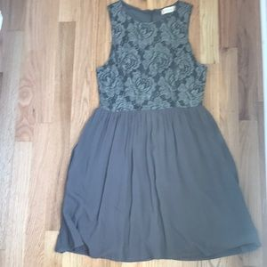 Only worn once. Dress with patterns